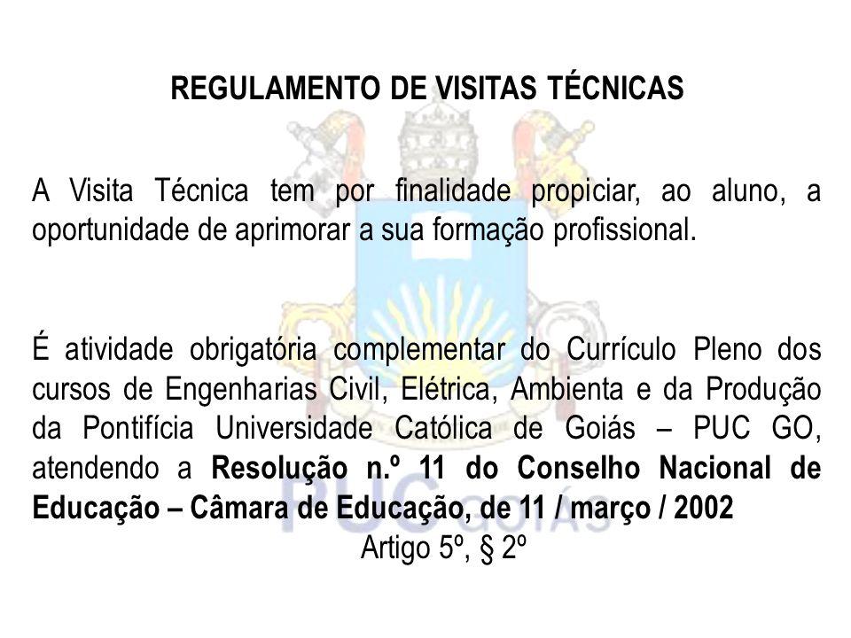REGULAMENTO DE VISITAS TÉCNICAS