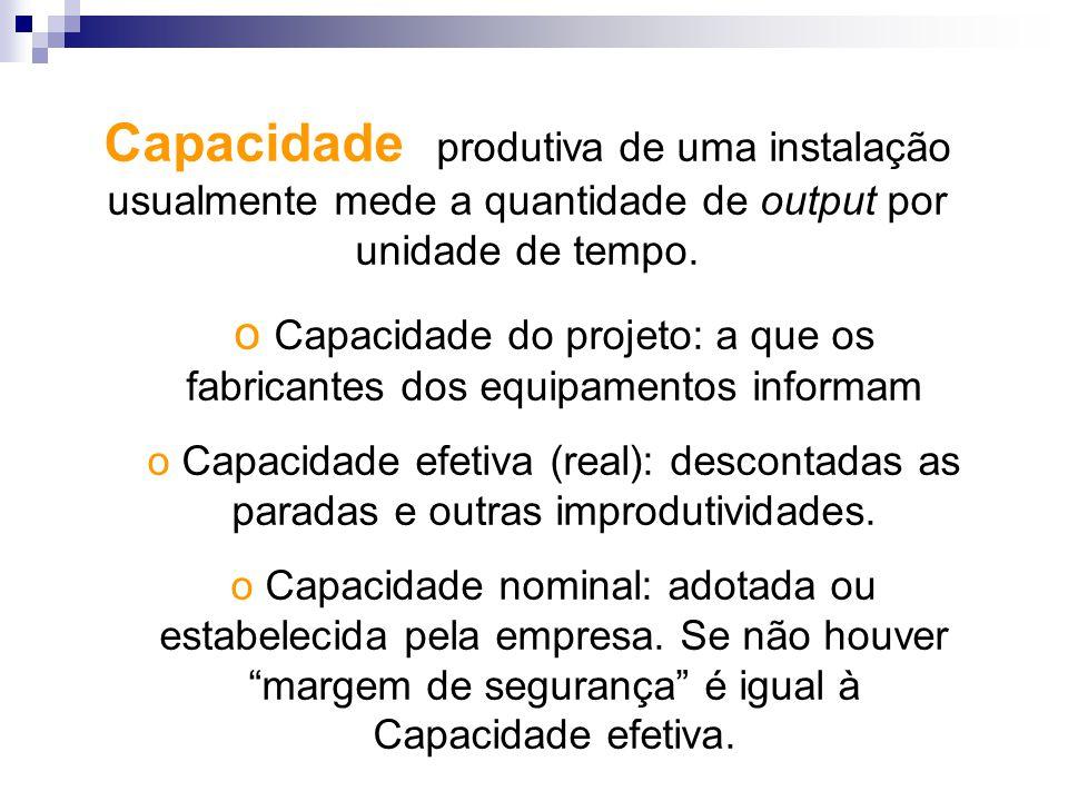 Capacidade do projeto: a que os fabricantes dos equipamentos informam