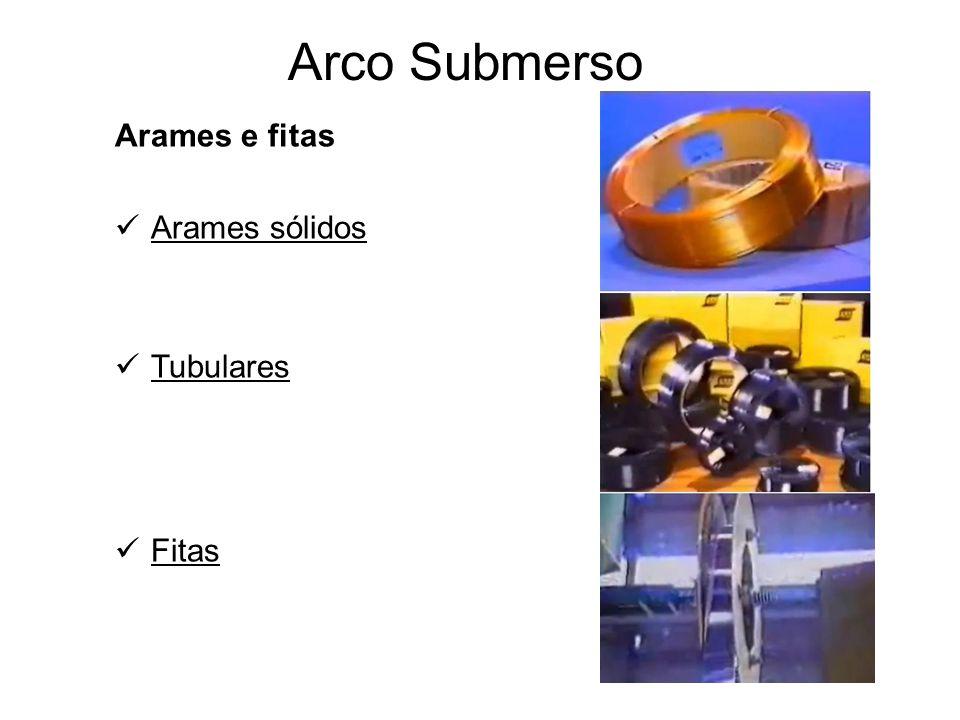 Arco Submerso Arames e fitas Arames sólidos Tubulares Fitas
