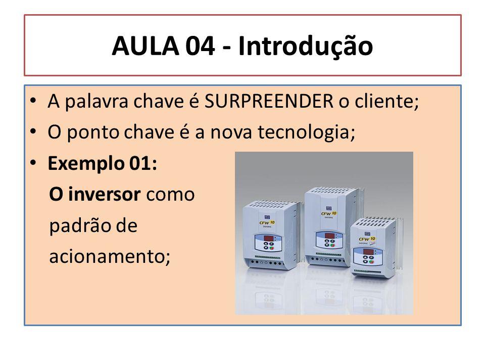 AULA 04 - Introdução A palavra chave é SURPREENDER o cliente;