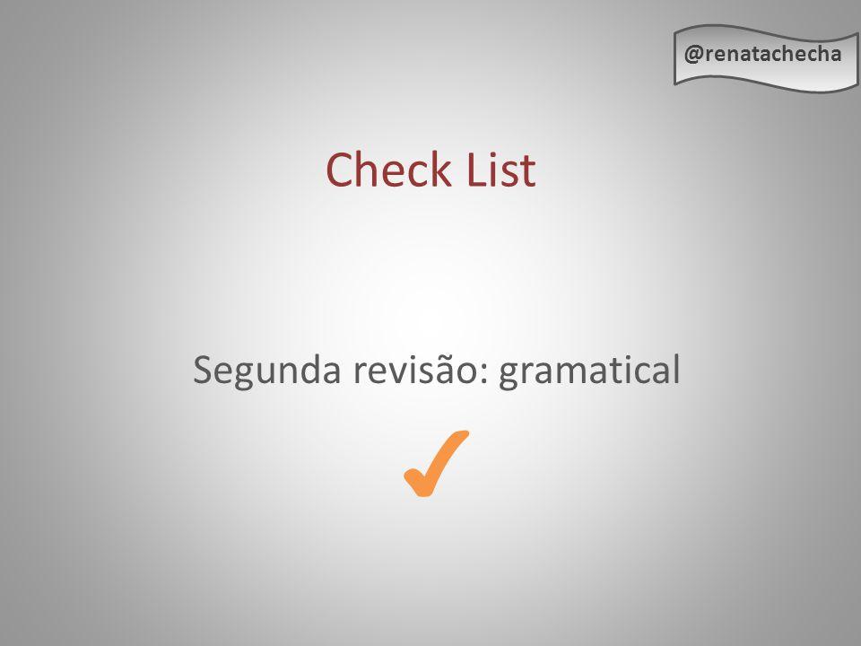 Segunda revisão: gramatical ✔