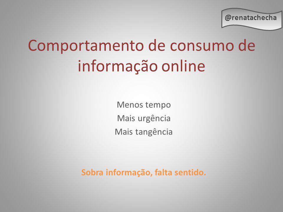Comportamento de consumo de informação online
