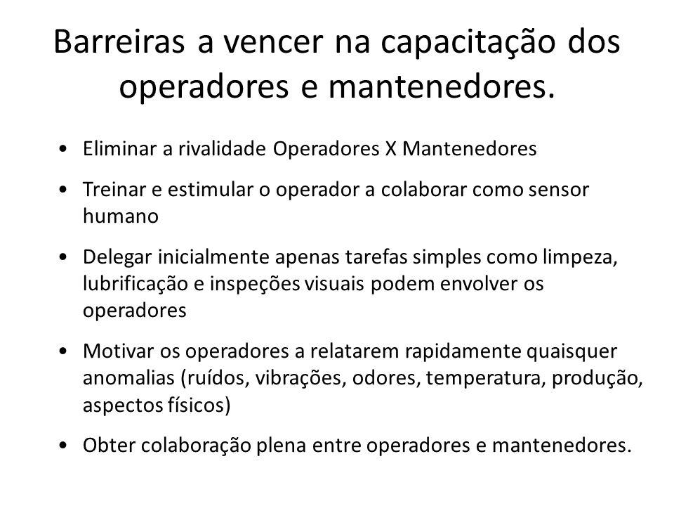 Barreiras a vencer na capacitação dos operadores e mantenedores.