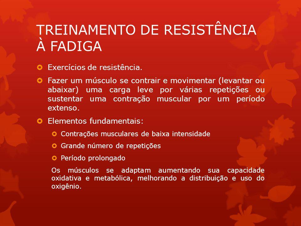 TREINAMENTO DE RESISTÊNCIA À FADIGA