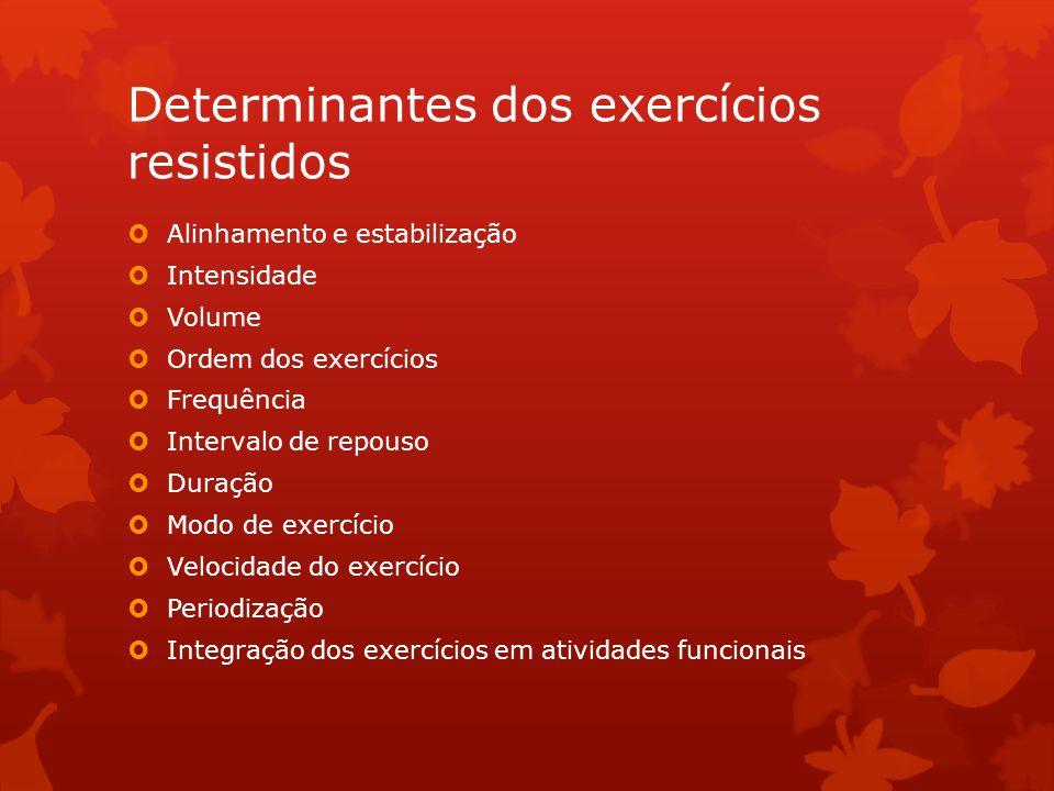 Determinantes dos exercícios resistidos
