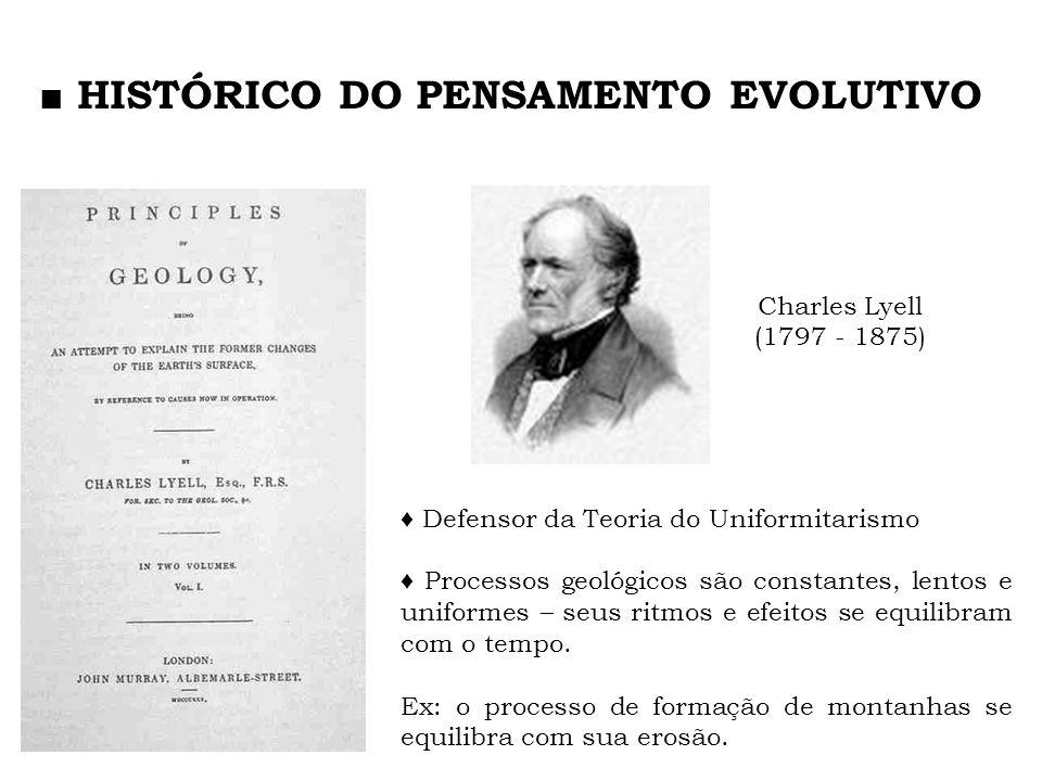 ■ HISTÓRICO DO PENSAMENTO EVOLUTIVO