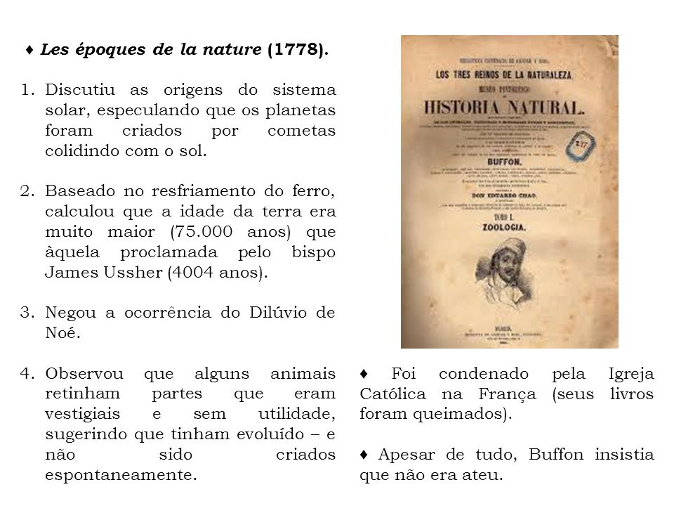 ♦ Les époques de la nature (1778).