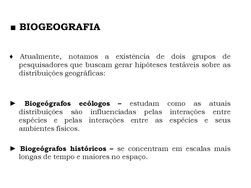 ■ BIOGEOGRAFIA