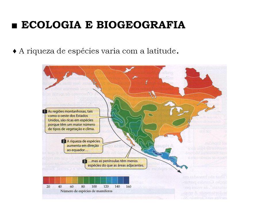 ■ ECOLOGIA E BIOGEOGRAFIA