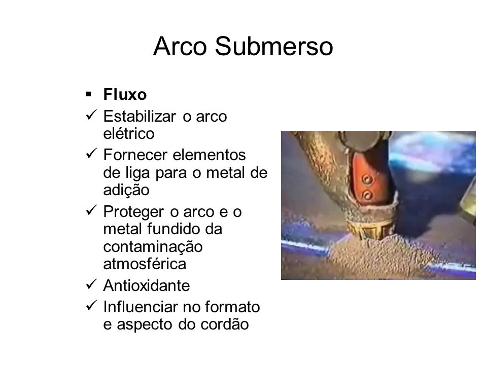 Arco Submerso Fluxo Estabilizar o arco elétrico