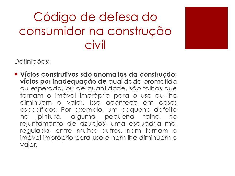 Código de defesa do consumidor na construção civil