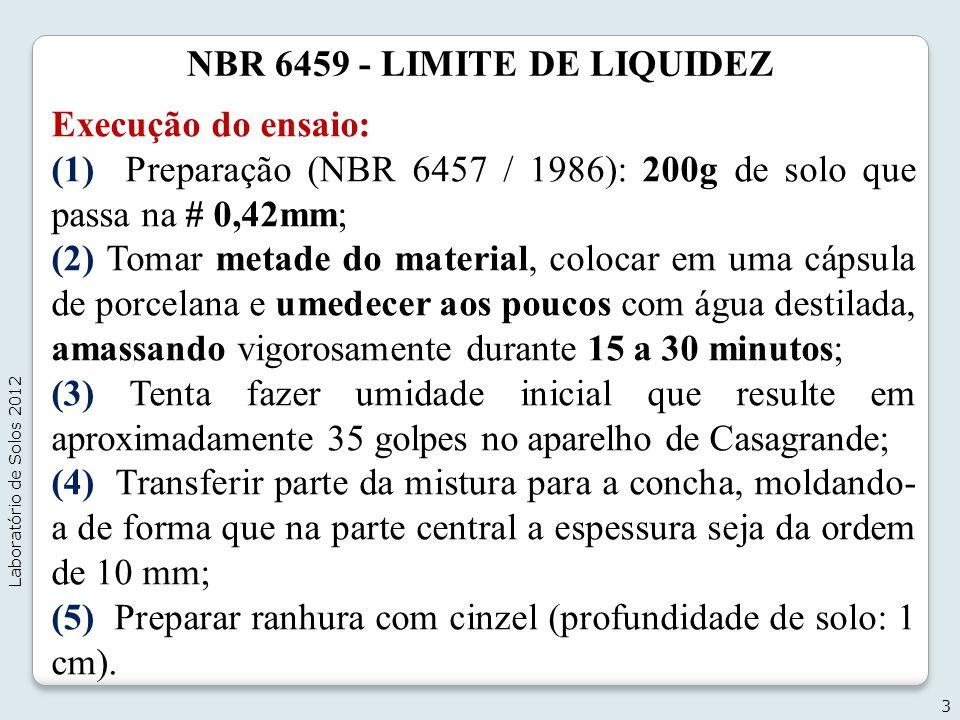 NBR 6459 - LIMITE DE LIQUIDEZ