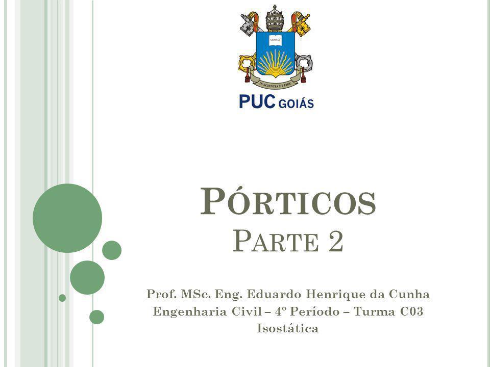 Pórticos Parte 2 Prof. MSc. Eng. Eduardo Henrique da Cunha