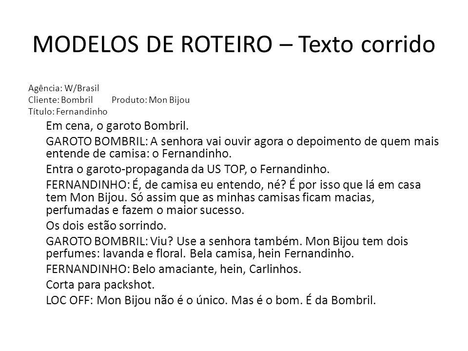 MODELOS DE ROTEIRO – Texto corrido