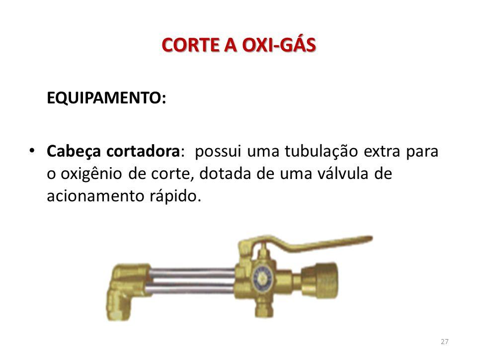 CORTE A OXI-GÁS EQUIPAMENTO: