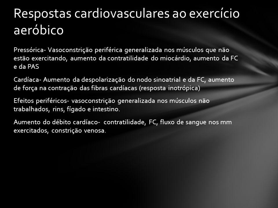 Respostas cardiovasculares ao exercício aeróbico