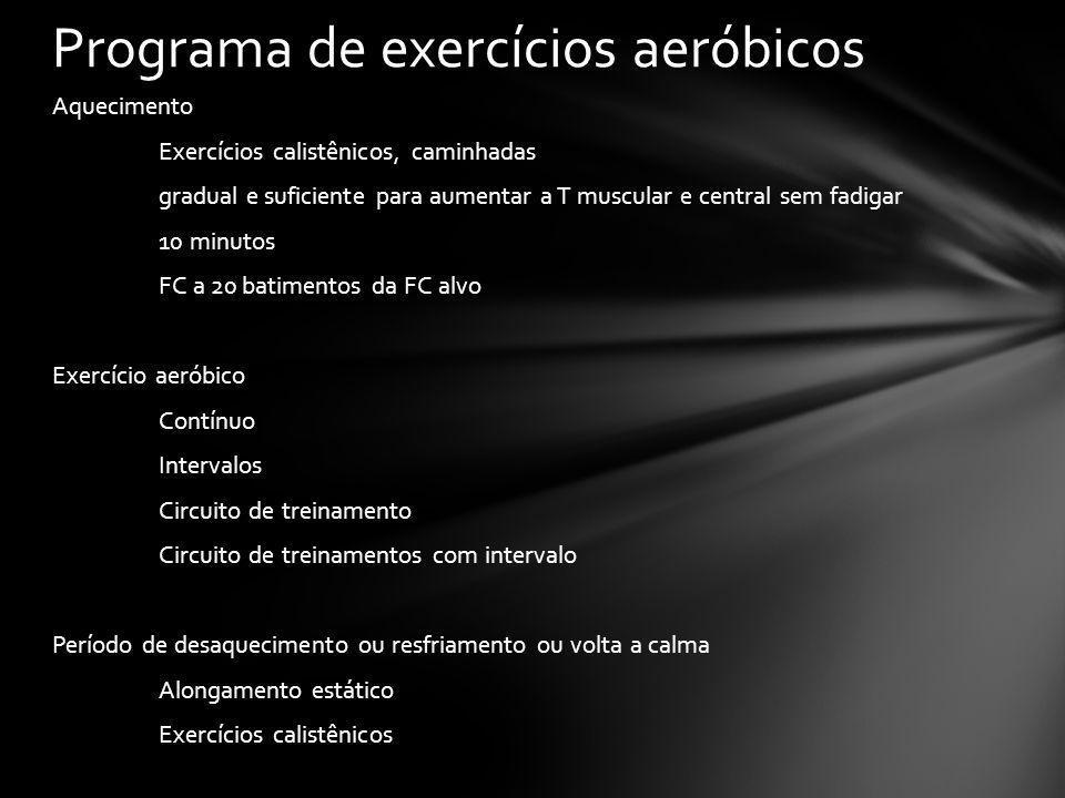 Programa de exercícios aeróbicos
