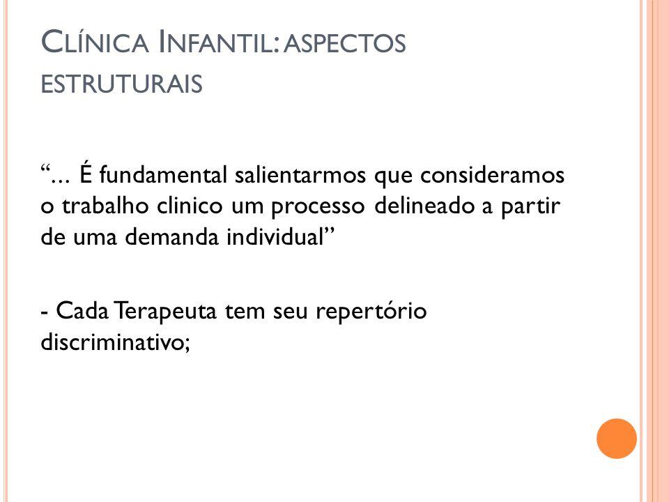 Clínica Infantil: aspectos estruturais
