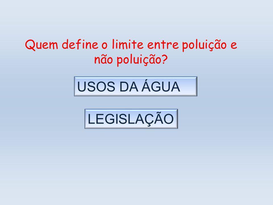 Quem define o limite entre poluição e não poluição