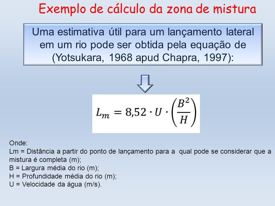 Exemplo de cálculo da zona de mistura