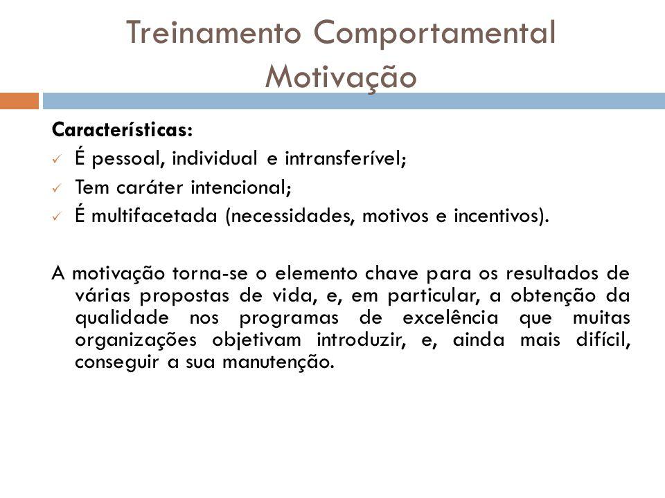 Treinamento Comportamental Motivação