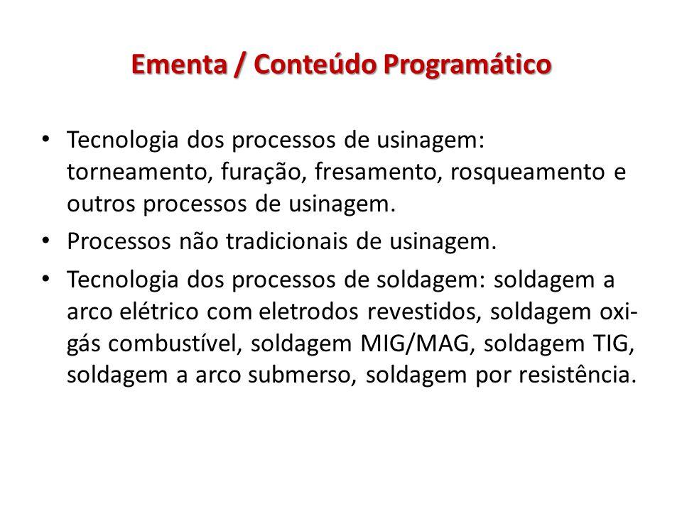 Ementa / Conteúdo Programático