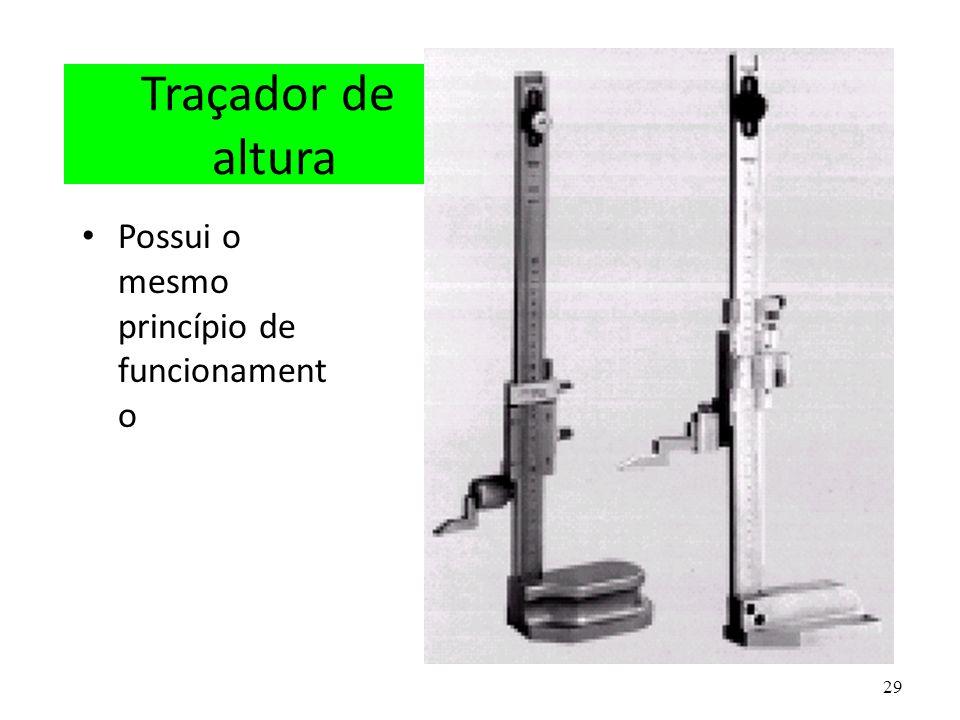 Traçador de altura Possui o mesmo princípio de funcionamento