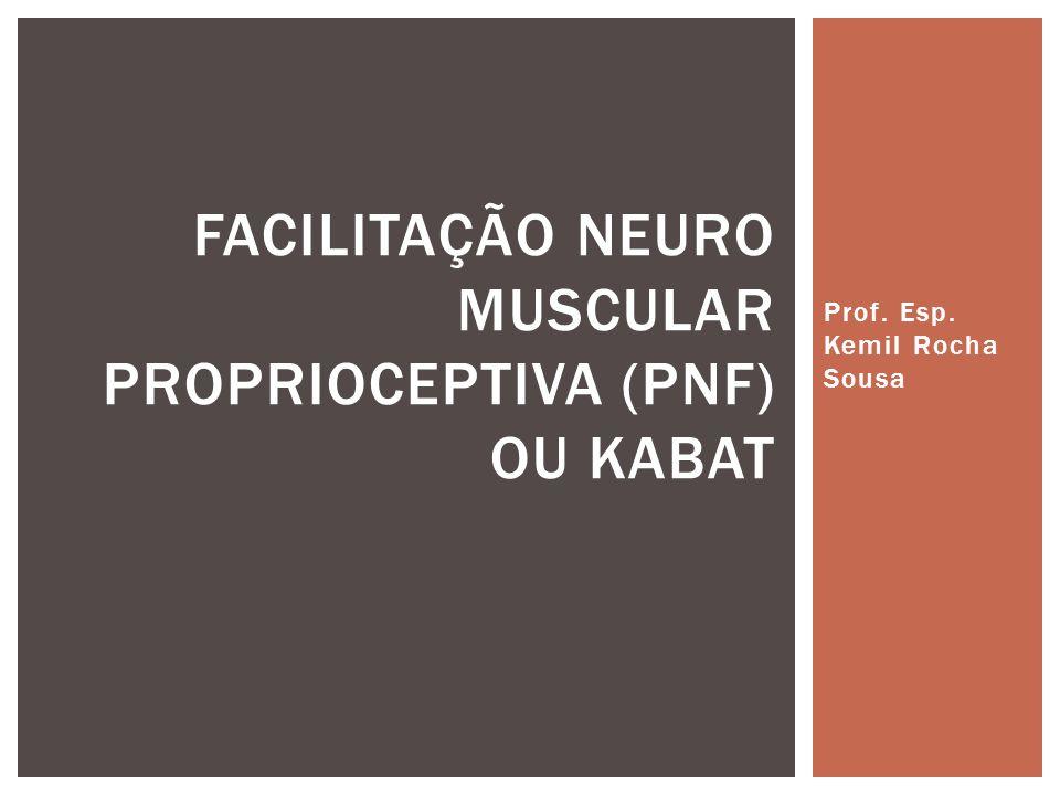 Facilitação Neuro muscular proprioceptiva (PNF) ou KABAT