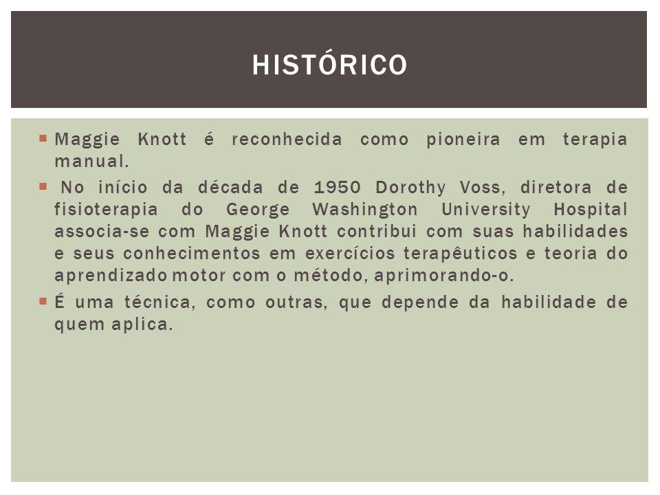 HISTÓRICO Maggie Knott é reconhecida como pioneira em terapia manual.