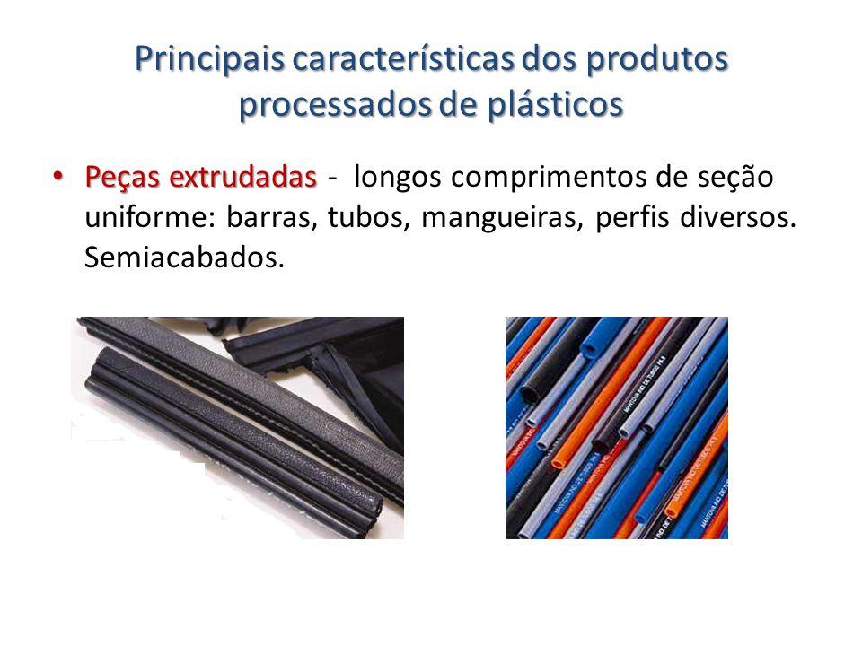 Principais características dos produtos processados de plásticos