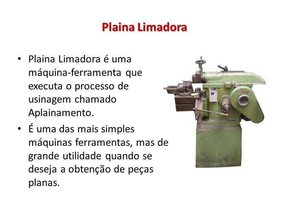Plaina Limadora Plaina Limadora é uma máquina-ferramenta que executa o processo de usinagem chamado Aplainamento.