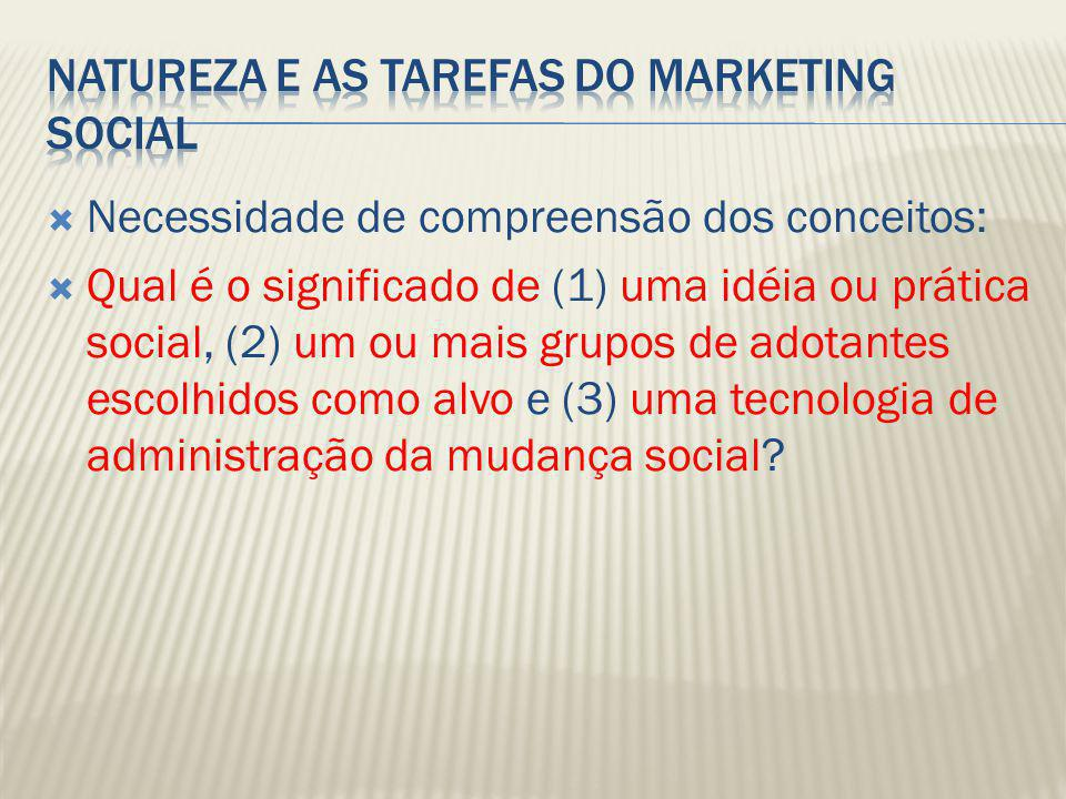 Natureza e as Tarefas do Marketing Social