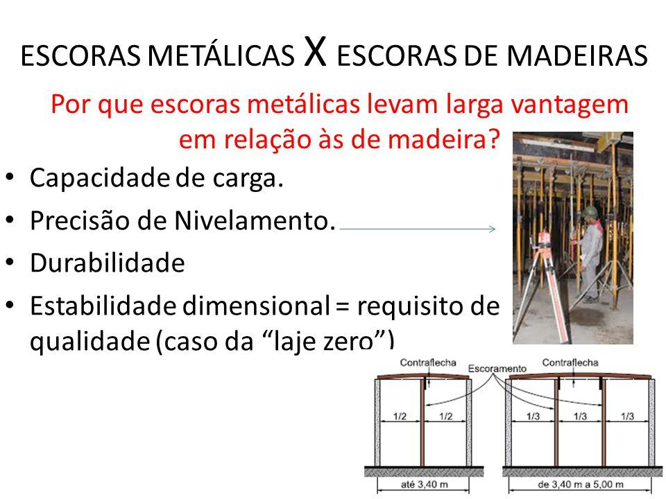 ESCORAS METÁLICAS X ESCORAS DE MADEIRAS