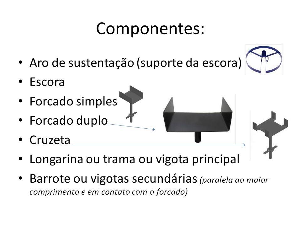 Componentes: Aro de sustentação (suporte da escora) Escora