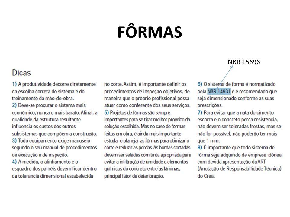 FÔRMAS NBR 15696