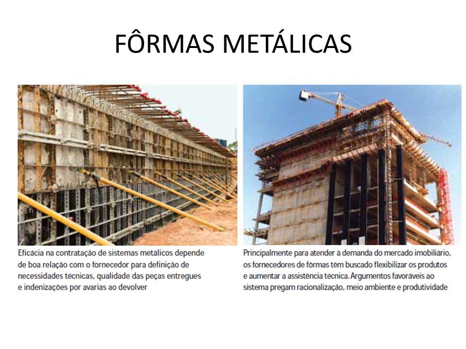 FÔRMAS METÁLICAS