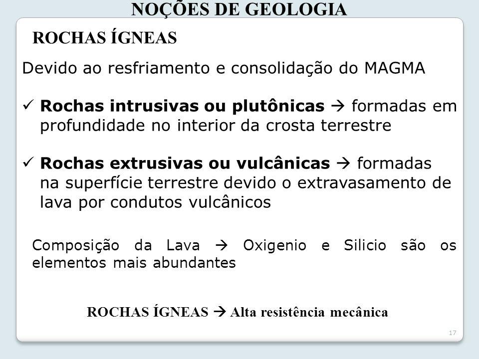 NOÇÕES DE GEOLOGIA ROCHAS ÍGNEAS