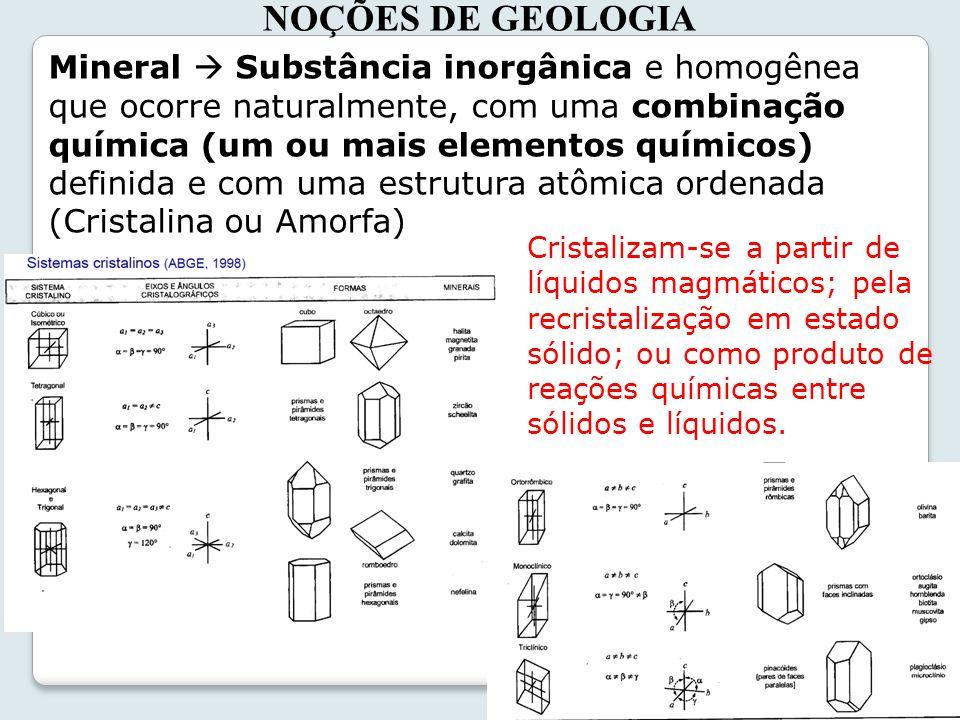 NOÇÕES DE GEOLOGIA