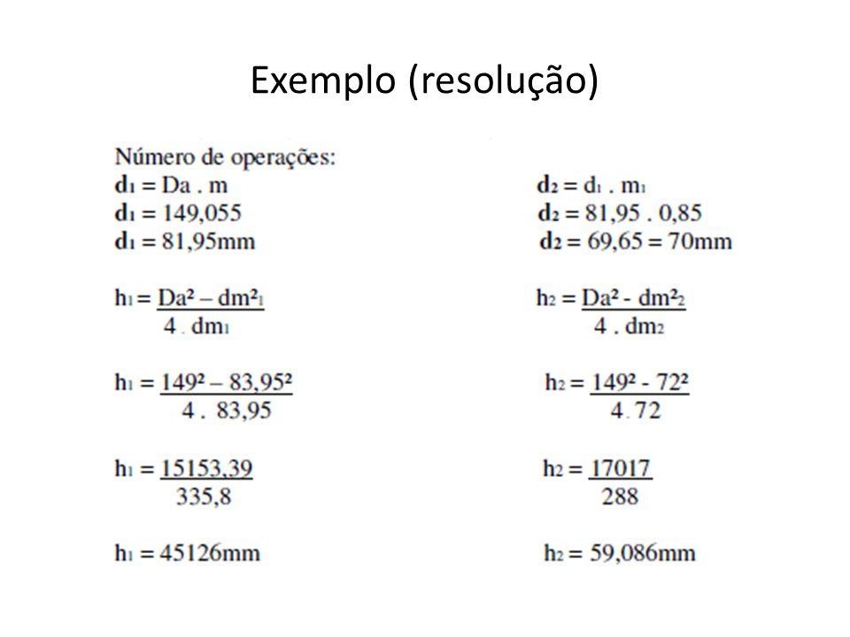 Exemplo (resolução)