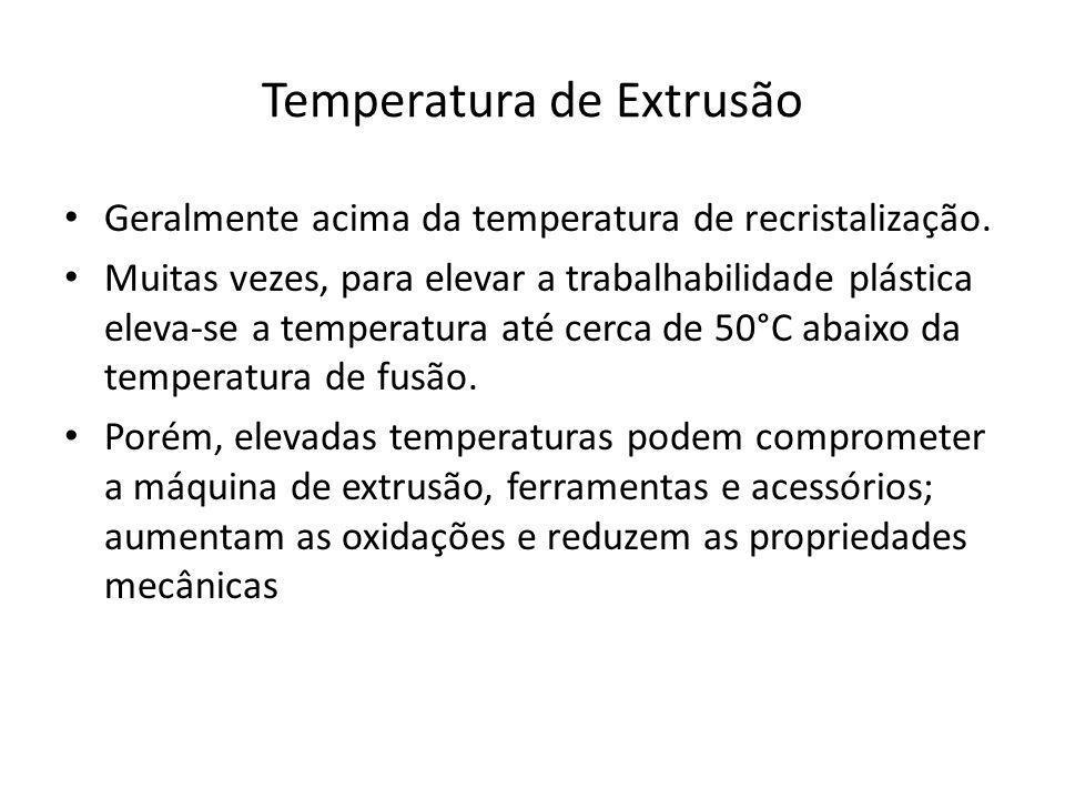Temperatura de Extrusão
