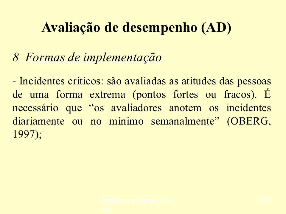 Avaliação de desempenho (AD)