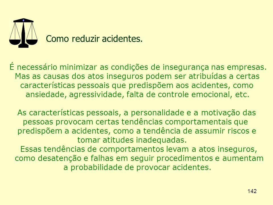 Como reduzir acidentes.