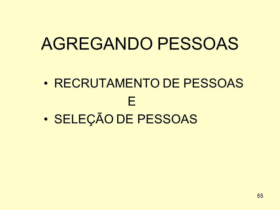AGREGANDO PESSOAS RECRUTAMENTO DE PESSOAS E SELEÇÃO DE PESSOAS