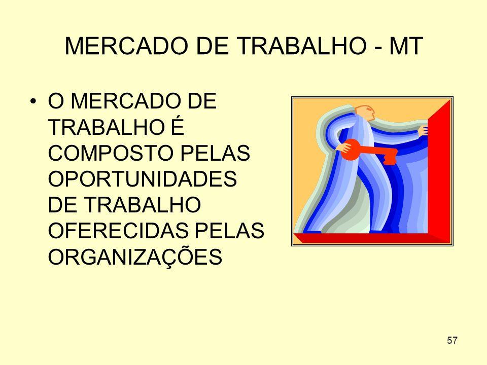 MERCADO DE TRABALHO - MT