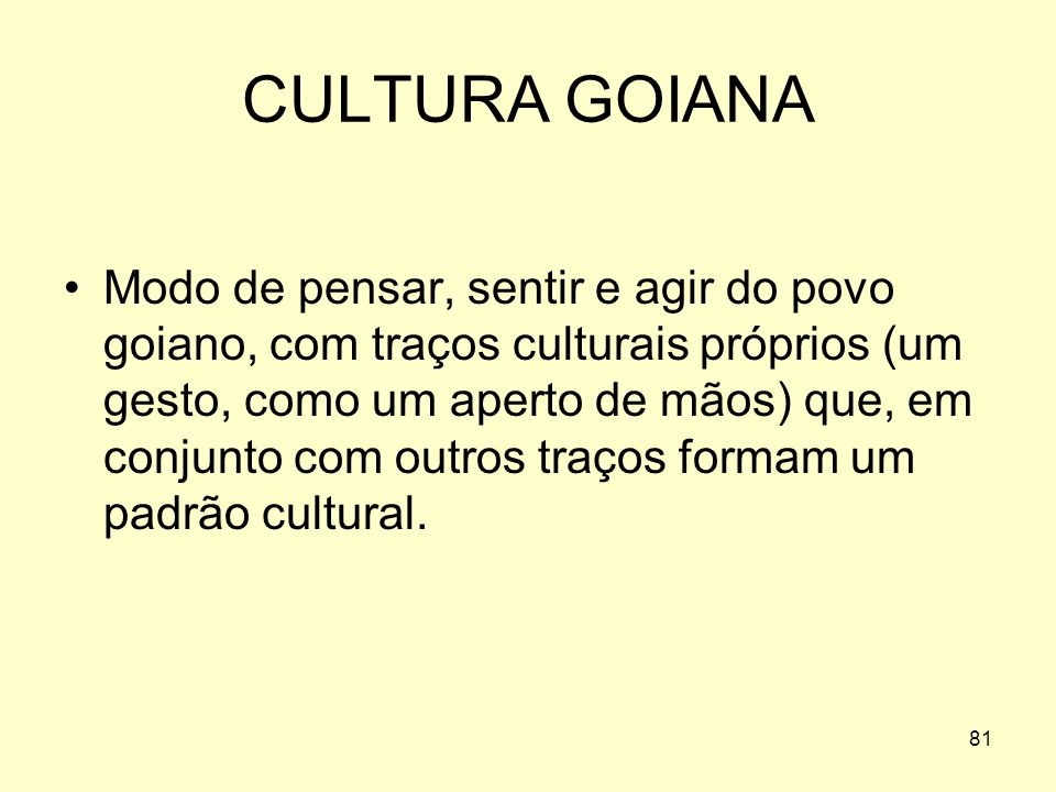 CULTURA GOIANA