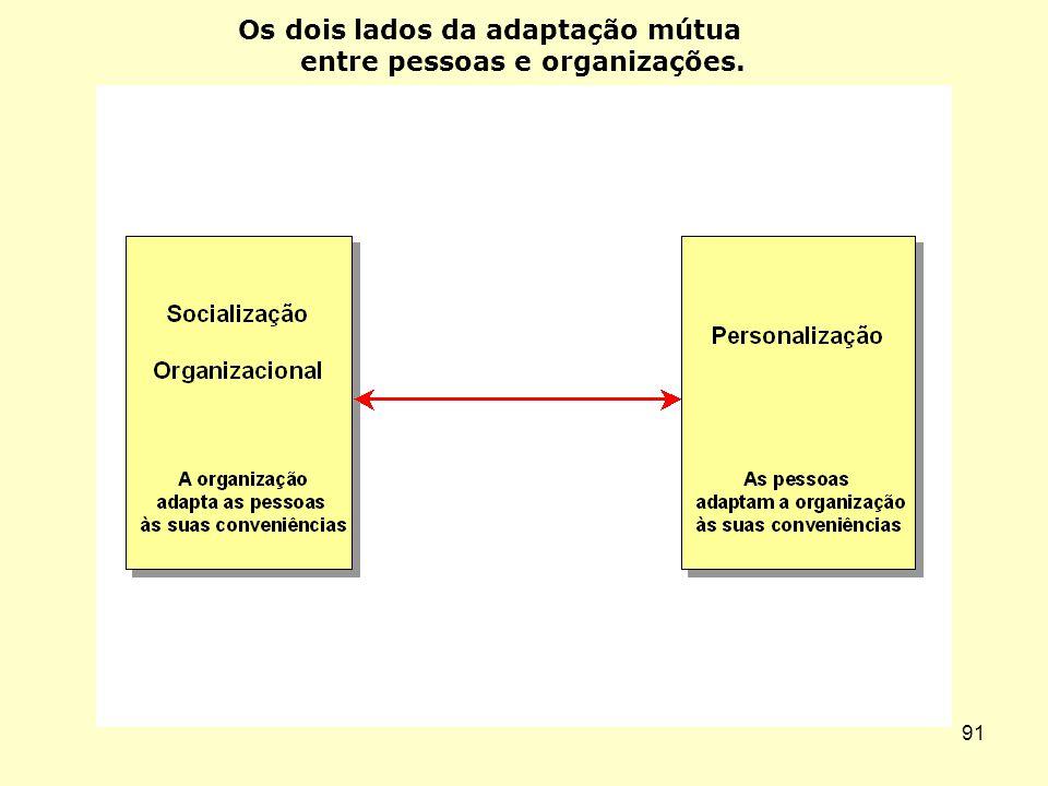 Os dois lados da adaptação mútua