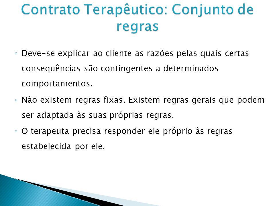 Contrato Terapêutico: Conjunto de regras