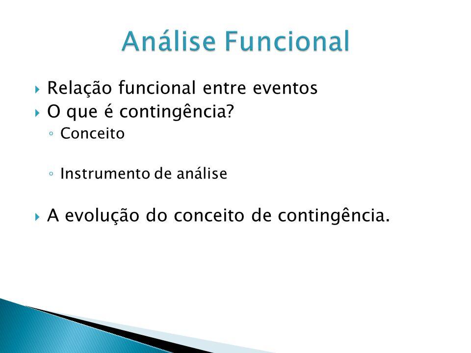 Análise Funcional Relação funcional entre eventos