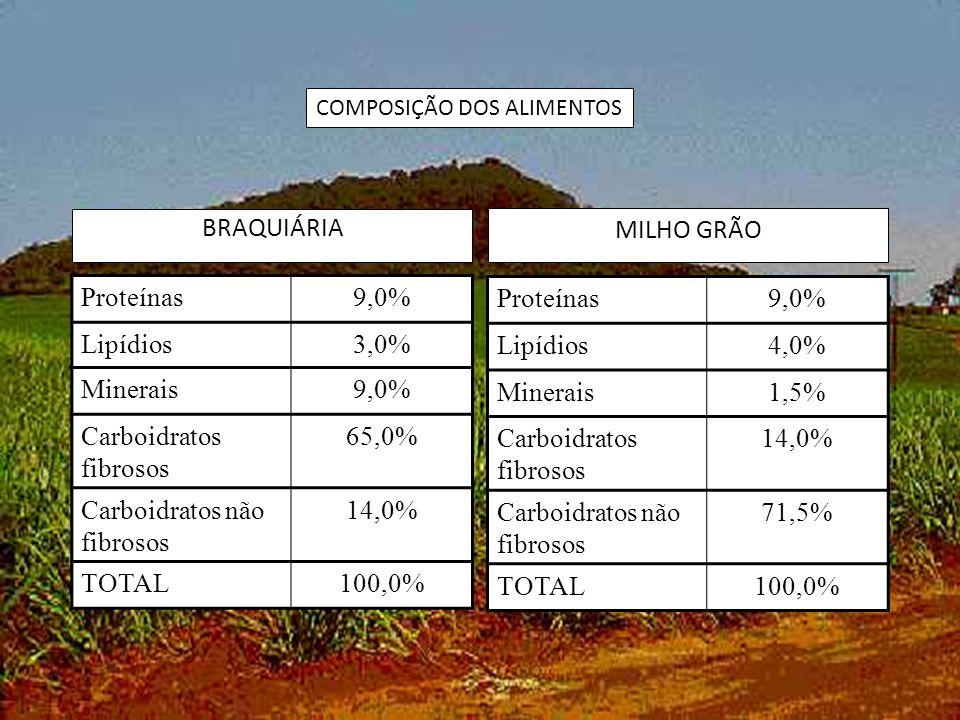 Carboidratos fibrosos 65,0% Carboidratos não fibrosos 14,0% TOTAL