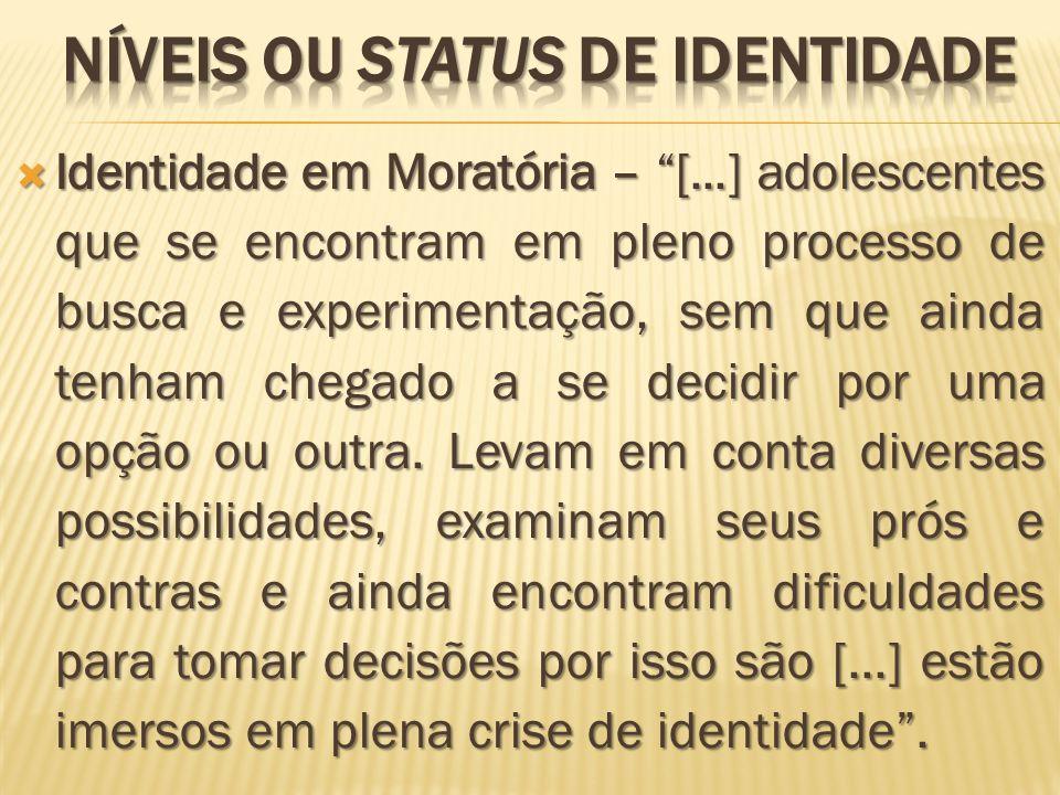 NÍVEIS OU STATUS DE IDENTIDADE